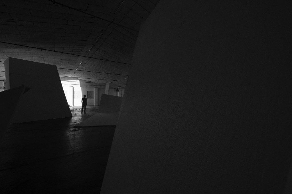 raumskizze sandepot aichach) kunstverein aichach, florian lechner, 2015