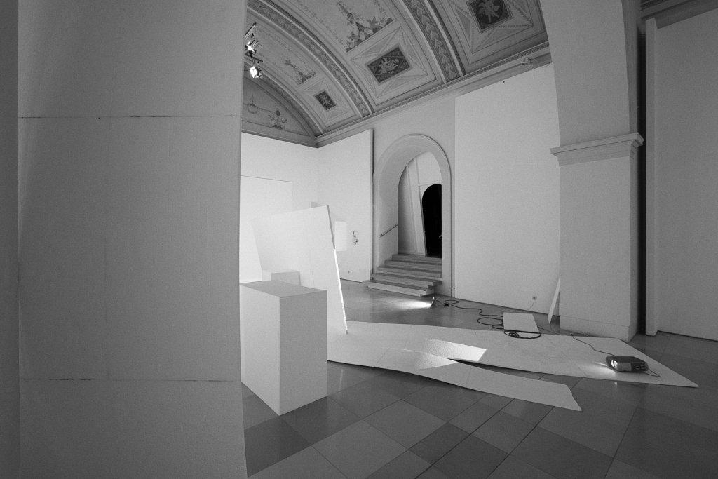 raumskizze (galerie der künstler münchen), florian lechner, 2015